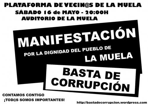 POR LA DIGNIDAD DEL PUEBLO DE LA MUELA. ¡BASTA DE CORRUPCIÓN!