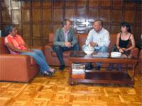 Visita a la DPZ de representantes del Frente Nacional contra el Golpe de Estado en Honduras