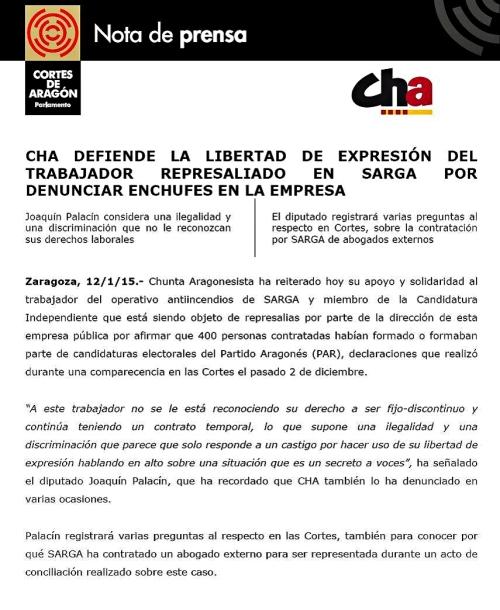 Nota de Prensa (12.01.15)